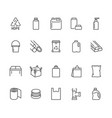 high density polyethylene flat line icons hdpe vector image