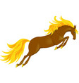 horse jump vector image vector image