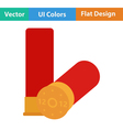 Icon of ammo from hunting gun vector image vector image