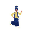 indian man dancing in traditional clothes vector image vector image