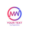 initial letter mw logo template colorfull circle vector image vector image