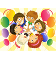 Kids in a party vector image