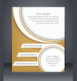 layout flyer business brochure or flyer template vector image