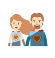 light color shading caricature half body couple vector image vector image