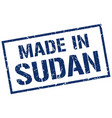 made in sudan stamp vector image vector image