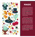 magic show and magician equipment circus circus vector image vector image