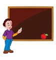 man using a chalkboard vector image vector image