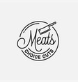 Meats shop logo round linear meats choice cuts