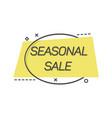 minimalist falt label promoting seasonal sale vector image