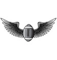 monochromatic realistic ball for american football vector image vector image