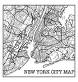 new york city white map vector image vector image