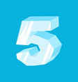 number 5 ice icicles font five frozen alphabet vector image vector image