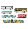 passenger bus set vector image