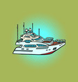 passenger ship private yacht sea travel and vector image vector image
