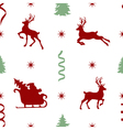 pattern with Santa vector image