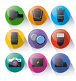 photo equipment icon set vector image vector image