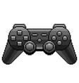 pixel black game console detailed isolated vector image