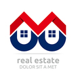 real estate buiding architecture housing icon vector image vector image