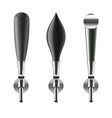 realistic detailed 3d black beer taps set vector image vector image