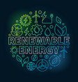 renewable energy round colorful vector image