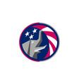 Republican Elephant Mascot USA Flag Circle Retro vector image vector image
