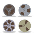 retro bobbin audio cassette isolated on a white vector image vector image