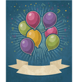 Retro Party Balloons vector image