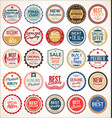 retro vintage colorful badges and labels