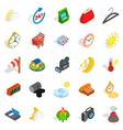 right time icons set isometric style vector image vector image