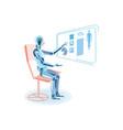 robot studying human anatomy flat vector image vector image