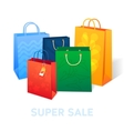 Sale poster shopping paper bags of vector image vector image