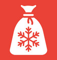 santa bag glyph icon new year and christmas vector image
