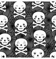 seamless halloween kawaii cartoon pattern vector image vector image