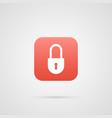 security symbol lock icon app symbol vector image vector image
