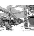 sketch of city life vector image
