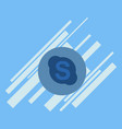 skype geometric polygonal icons bizarre mosaic vector image vector image