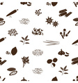 spices and seasonings icons seamless pattern eps10 vector image vector image