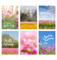 spring flowers ideas concept with positive quotes vector image