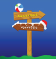 summer and winter signboard color vector image vector image