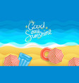 summer beach good day sunshine concept vector image
