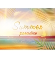Summer time background with copyspace vector image