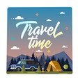 travel time colorful vector image vector image