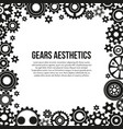 various gears and cogwheels in engagement frame vector image vector image