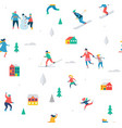 winter sport background vector image vector image