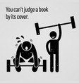 you cannot judge a book by its cover a vector image vector image