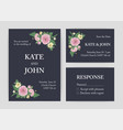bundle of beautiful wedding invitation save the vector image