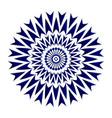 blue flower mandala vector image
