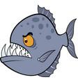 hungry piranha eps vector image