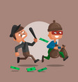 a police officer and thief vector image