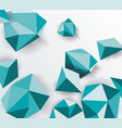 abstract geometric background 3d shapes vector image vector image